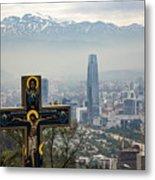 Santiago Chile Panoramic Metal Print