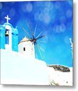 Santorini 1 Metal Print