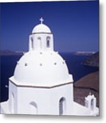 Santorini Church Metal Print