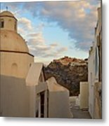 Santorini Dome Church Metal Print