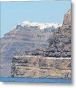 Santorini Fira Metal Print