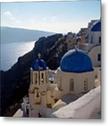 Santorini Greece Metal Print