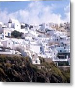 Santorini Hillside 2 Metal Print