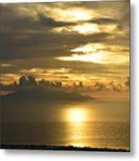 Santorini. Sunlight Metal Print