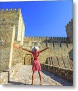 Sao Jorge Castle Tourist Metal Print