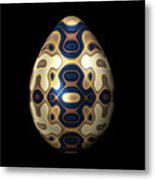 Sapphire And Gold Imperial Easter Egg Metal Print