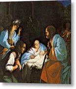 Saraceni Carlo The Birth Of Christ Metal Print