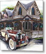 Sarah Elizah The Packard Metal Print by Mike Hill
