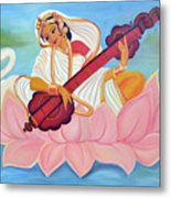 Saraswati Metal Print by Shruti Prasad