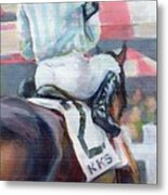 Saratoga Stripes Metal Print
