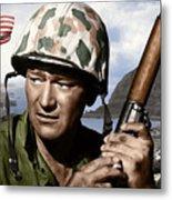 Sargent Stryker U S M C  Iwo Jima Metal Print