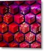 Sari Cubed Metal Print