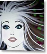 Sassy Sapphire Metal Print