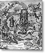 Satan With Cavorting Dancers, 18th Metal Print