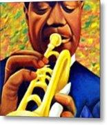 Satchmo, Louis Armstrong Painting Metal Print