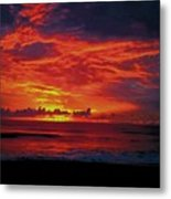 Satellite Beach Sunrise Metal Print