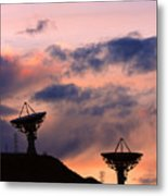 Satellite Sunset Metal Print