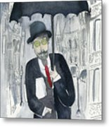 Satie Walking In The Rain Metal Print