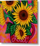 Saturday Morning Sunflowers Metal Print