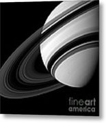 Saturn And Tethys Metal Print