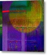 Saturn Lavender Metal Print