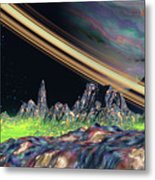 Saturn View Metal Print