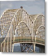 Sault Ste Marie International Bridge Arch Metal Print by Danielle Allard
