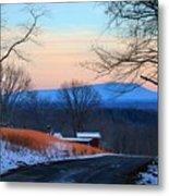 Sauratown View In Winter Metal Print