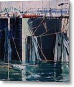 Sausalito Docks Metal Print