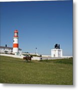 Souter Lighthouse And Foghorn. Metal Print