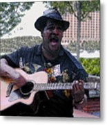 Savanna Blues Man Metal Print