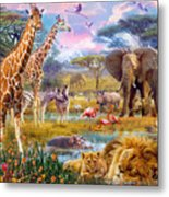 Savannah Animals Metal Print