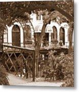Savannah Arches In Sepia Metal Print