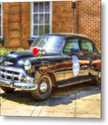 Savannah Police Car 1953 Chevrolet  Metal Print
