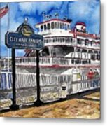Savannah River Queen Boat Georgia Metal Print