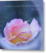 Savannah Rose 3 Metal Print