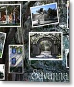 Savannah Scenes Collage Metal Print