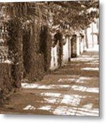 Savannah Sepia - Sunny Sidewalk Metal Print