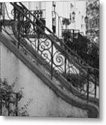 Savannah Stoops - Black And White Metal Print