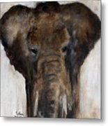 Save The Elephant Metal Print