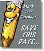 Save This Date Metal Print