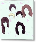 Saved By The Hair Metal Print
