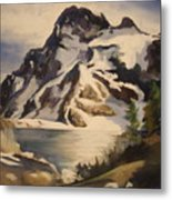 Sawtooth Mountain Lake Metal Print