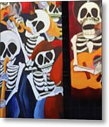 Sax Guitar Music Day Of The Dead  Metal Print