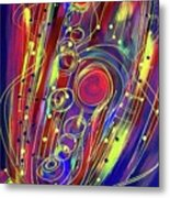 Sax Jazzed In Pink Metal Print