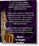 Saxophone Photographs Or Pictures For T-shirts Why Music 4819.02 Metal Print