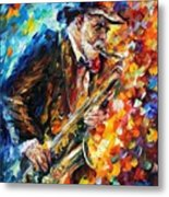 Saxophonist Metal Print