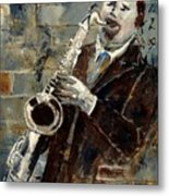 Saxplayer 570120 Metal Print
