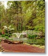 Sayen Gardens Bridge Series Metal Print