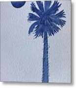 Sc Palmetto And Crescent Metal Print